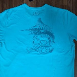 🎣 NWT Under Armour Marling Fishing T-Shirt Men's